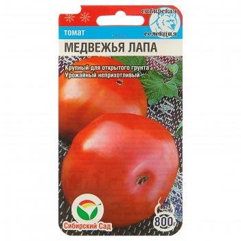 Семена томат медвежья лапа, среднеранний, 20 шт