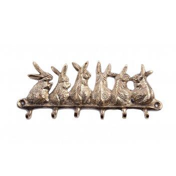 Вешалка кролики латунь (полиш) 2шт/упак.