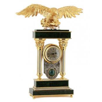 Каминные часы орел нефрит арт.3194