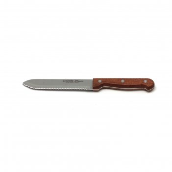Нож для томатов atlantis, 14 см, коричневый