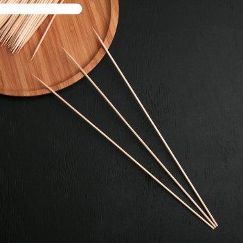 Шампур деревянный komfi, берёза, 30x0,3 см, по 100 шт