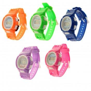 Часы наручные детские непоседа, электронные, ремешок силикон, микс, l=20 с