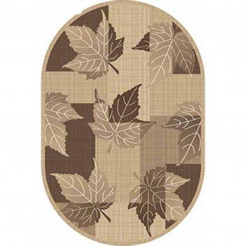 Овальный ковёр «карвинг» mega carving 4785, 100 х 300 см, цвет beige