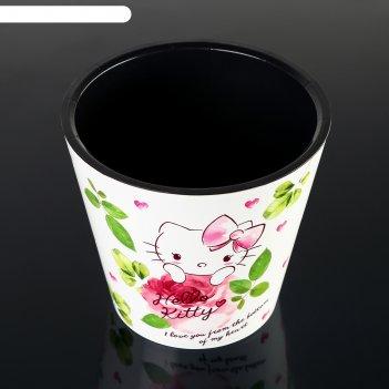 Горшок для цветов 1,6 л london hello kitty. любовь, d=16 см