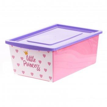 Ящик универсальный для хранения с крышкой  «принцесса » , объем 30 л, цвет