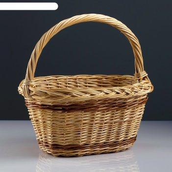 Корзина «калина», 34x25x19/33 см, ручное плетение, ива