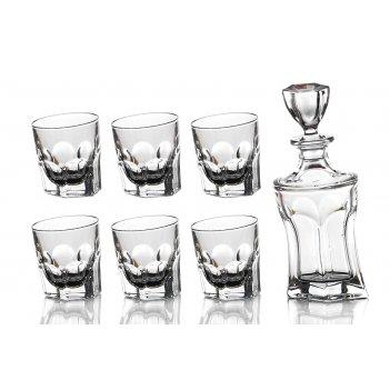 Набор для виски акапулько 7 пр.: штоф+6 стаканов...код т