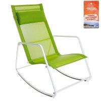 Кресло-качалка 90х53х89 см, цвет зеленый