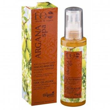 Восстанавливающее масло-флюид ecolab argana spa глубокое питание и блеск,