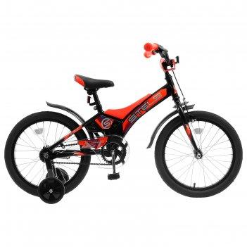 Велосипед 18 stels jet, z010, цвет черный/оранжевый