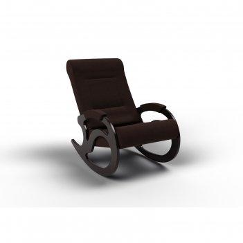 Кресло-качалка «вилла», 1040 x 640 x 900 мм, ткань, цвет шоколад
