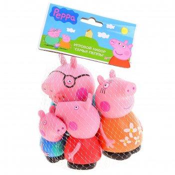 Набор резиновых игрушек семья пеппы