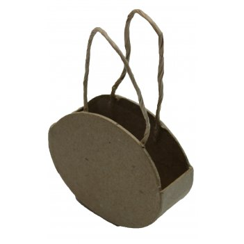 Сумочка мини овальная из папье-маше, 6,3 х 3 х 11,5 см