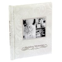 Фотоальбом магнитный на 20 листов свадебные воспоминания 33х29х2,5 см