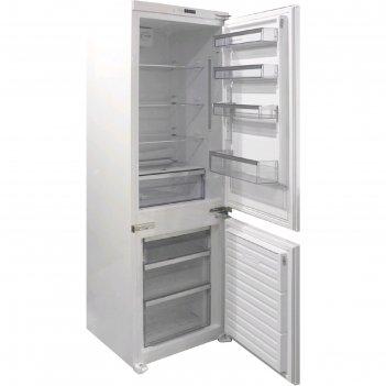 Холодильник zigmund   shtain br 08.1781 sx, встраиваемый, двухкамерный, 25
