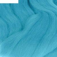 Шерсть для валяния 100% полутонкая шерсть 50гр (172 яр. голубой)