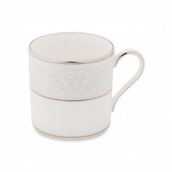 Чашка кофейная, объем: 90 мл, материал: костяной фарфор, цвет: белый, деко