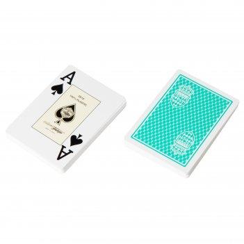"""Карты для покера """"club monaco"""" 100% пластик, испания, зеленые"""
