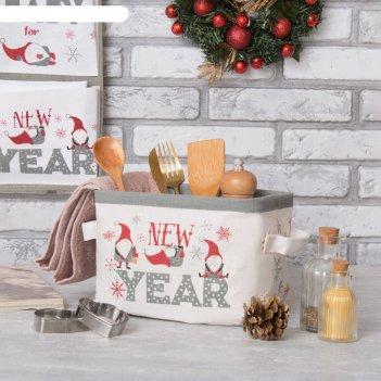 Текстильная корзинка этель новый год 14х7,2 см