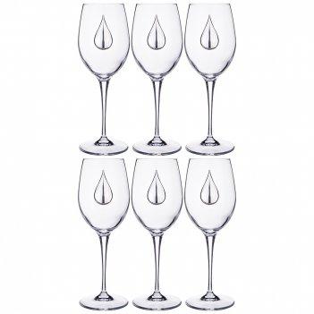 Набор бокалов для воды из 6 шт. 350мл. высота=22 см. (кор=1набор.)