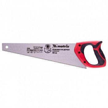 Ножовка по дереву, 400 мм, 7-8 tpi, зуб-3d, каленый зуб, двухкомпонентная