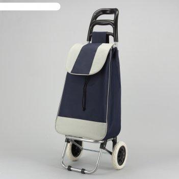 Сумка хозяйственная на колёсах «садовник», отдел на шнурке, нагрузка до 25
