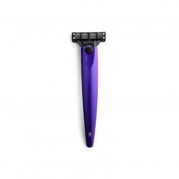 Бритва bolin webb r1, фиолетовый металлик, gillette mach3