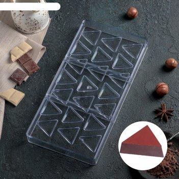 Форма для шоколада 21 ячейка треугольник 33x16,2x2,5 см