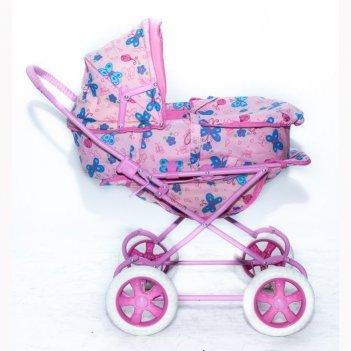 9920(9922) кукольная коляска rt цвет розовый