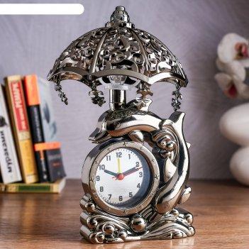 Часы будильник дельфин с светильником