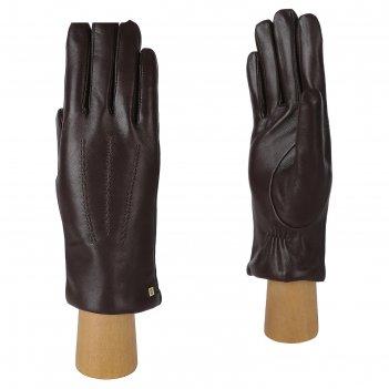 Перчатки женские натуральная кожа (размер 6.5) коричневый