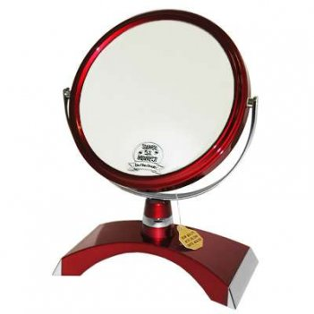 Зеркало* b6300 ruby/c red настольное 2-стор. 5-кр.ув.15 см.