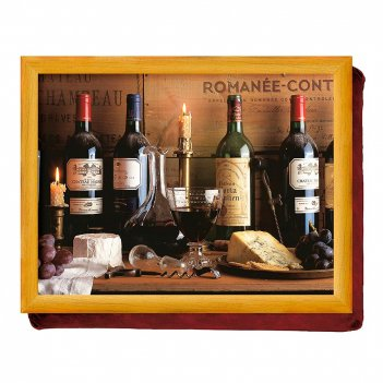 Creative tops поднос с подушкой vintage wine