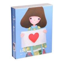 Фотоальбом магнитный на 20 листов романтичная девушка в коробке, микс