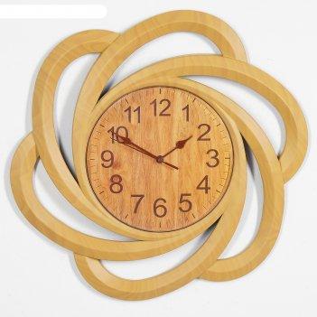 Часы настенные, серия: интерьер, бакаут, 40х40 см