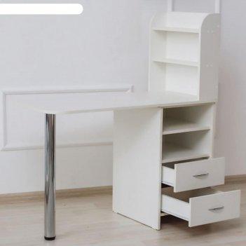 Маникюрный стол с тумбой 123*50*110, цвет белый