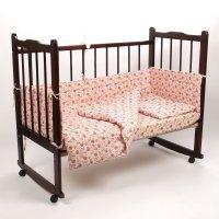 Комплект в кроватку 6 предмета малышок розовый 10606