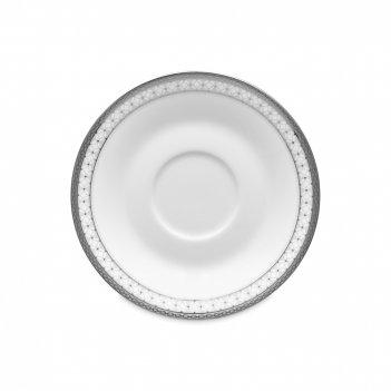 Блюдце для чайной чашки, диаметр: 15 см, материал: фарфор, цвет: белый, се