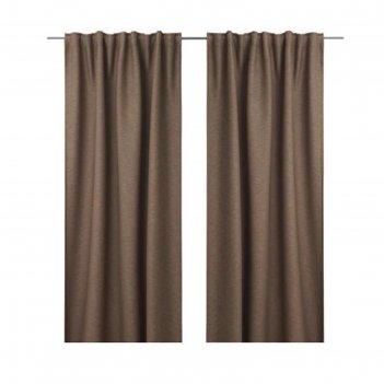 Гардины вилборг, размер 145х300 см, цвет коричневый