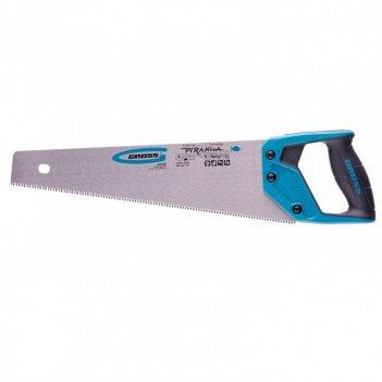 Ножовка по дереву piranha, 400 мм, 7-8 tpi, зуб-3d, каленый зуб, двухкомпо