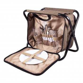 Набор для пикника на 2 персоне в сумке-стульчике 33*23*25см