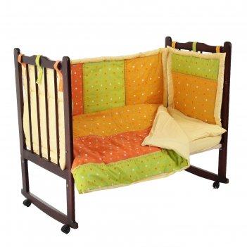 Комплект в кроватку лоскуток (6 предметов), цвет  10605