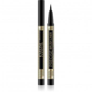 Подводка для глаз eveline precise brush, ультрастойкая, тон чёрный
