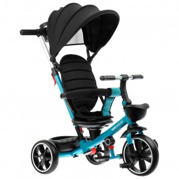 Велосипед трехколесный micio veloce +,колеса eva 10/8, цвет изумрудный