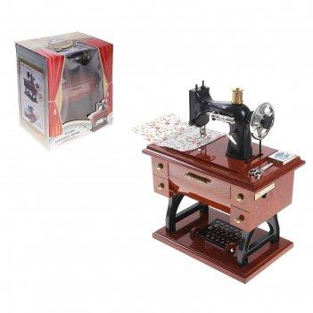 Машинка швейная шкатулка классика, световые, звуковые эффекты, работает от