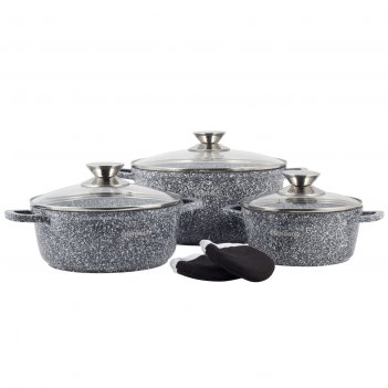 Набор посуды 7 предметов ofenbach nb 100506 (кастрюли 20см, 24см, 28см, пр