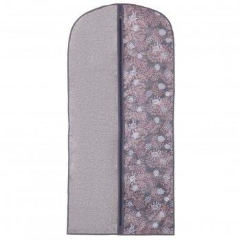 Чехол для одежды 60х100 см серебро