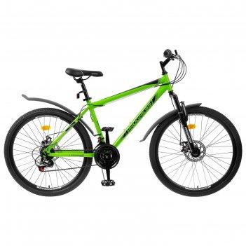 Велосипед 26 progress модель advance disc rus, цвет зеленый, размер 19