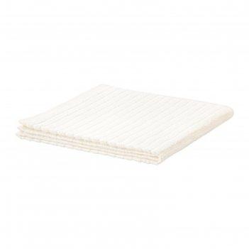 Полотенце махровое вогшён, размер 50х100 см, цвет белый