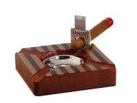 Пепельница для сигар ghana с гильотиной, 17 ? 17 ? 6 см